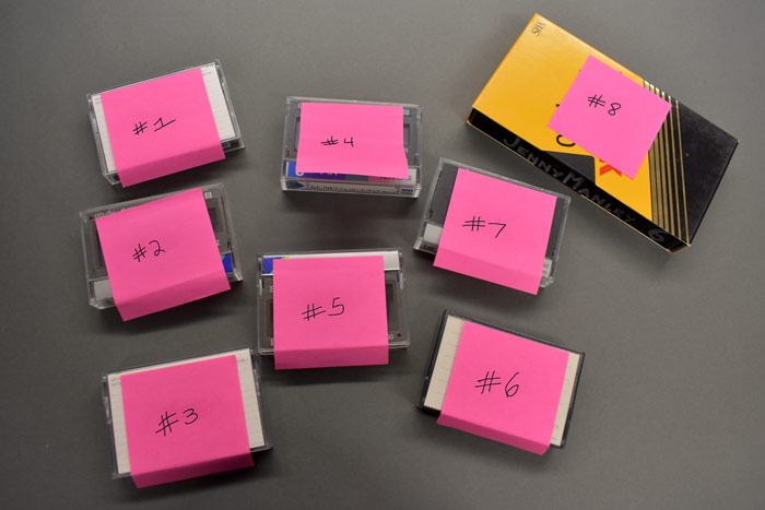Videotape Organization for Transfer to Digital